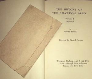 TSA history book inside cover