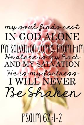 I will never be shaken